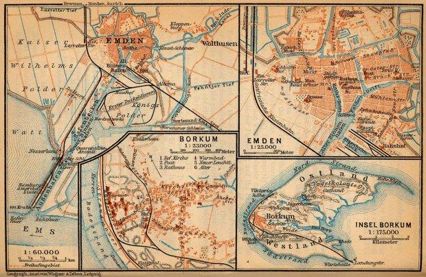Emden Karte.Galerie Kategorie Historische Karten Bild Emden Borkum
