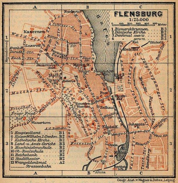 Flensburg Karte.Galerie Kategorie Historische Karten Bild Flensburg Altstadt