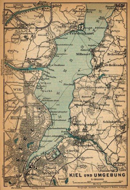 Kieler Bucht Karte.Galerie Kategorie Historische Karten Bild Kieler Förde 1910