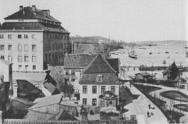 Kiel - Schloss und Barbarossabrücke 1893