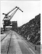 Kieler Hafen - Schrottberge 1952