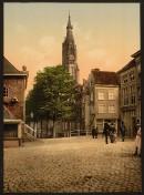 Delft - Fischmarkt und Neue Kirche