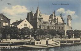 Pillau - Leuchtturm und Postamt