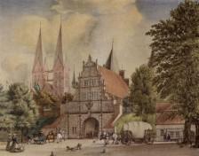 Luebeck - Holstentor 1850
