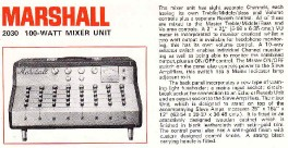 Marshall 2030 - 100 Watt Mixer