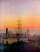 Schiffe im Hafen von Greifswald