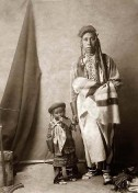 Indianer-Vater-Sohn