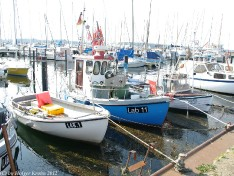 Fischerboote in Laboe